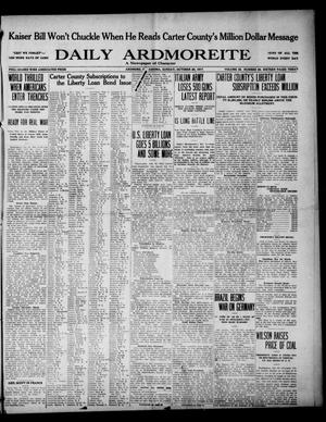 Primary view of object titled 'Daily Ardmoreite (Ardmore, Okla.), Vol. 25, No. 28, Ed. 1 Sunday, October 28, 1917'.