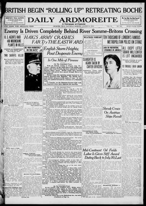 Primary view of Daily Ardmoreite (Ardmore, Okla.), Vol. 25, No. 328, Ed. 1 Saturday, August 31, 1918