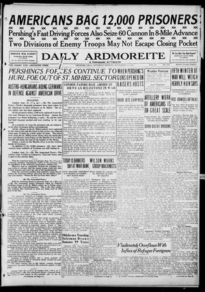 Primary view of object titled 'Daily Ardmoreite (Ardmore, Okla.), Vol. 25, No. 341, Ed. 1 Saturday, September 14, 1918'.