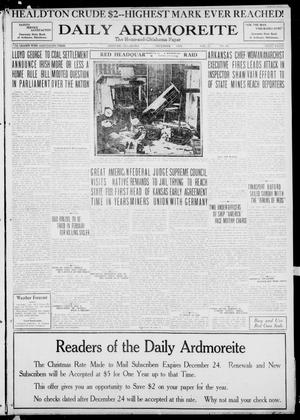 Primary view of object titled 'Daily Ardmoreite (Ardmore, Okla.), Vol. 27, No. 62, Ed. 1 Tuesday, December 23, 1919'.