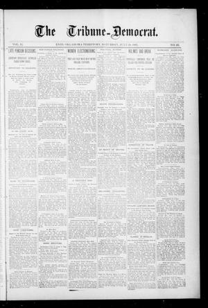 Primary view of object titled 'The Tribune--Democrat. (Enid, Okla. Terr.), Vol. 2, No. 44, Ed. 1 Saturday, July 20, 1895'.