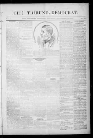 Primary view of object titled 'The Tribune-Democrat. (Enid, Okla. Terr.), Vol. 2, No. 52, Ed. 1 Saturday, September 21, 1895'.