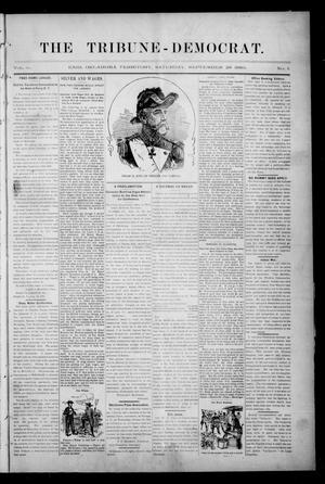 Primary view of object titled 'The Tribune-Democrat. (Enid, Okla. Terr.), Vol. 3, No. 1, Ed. 1 Saturday, September 28, 1895'.