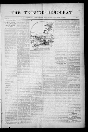 Primary view of object titled 'The Tribune-Democrat. (Enid, Okla. Terr.), Vol. 3, No. 2, Ed. 1 Saturday, October 5, 1895'.