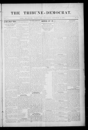 Primary view of object titled 'The Tribune-Democrat. (Enid, Okla. Terr.), Vol. 3, No. 3, Ed. 1 Saturday, October 12, 1895'.