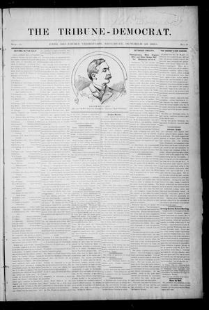 Primary view of object titled 'The Tribune-Democrat. (Enid, Okla. Terr.), Vol. 3, No. 5, Ed. 1 Saturday, October 26, 1895'.