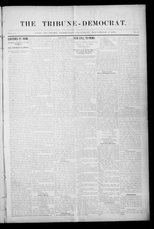 Primary view of object titled 'The Tribune-Democrat. (Enid, Okla. Terr.), Vol. 3, No. 6, Ed. 1 Saturday, November 2, 1895'.