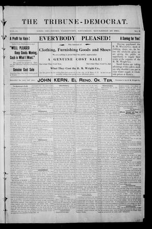 Primary view of object titled 'The Tribune-Democrat. (Enid, Okla. Terr.), Vol. 3, No. 9, Ed. 1 Saturday, November 23, 1895'.