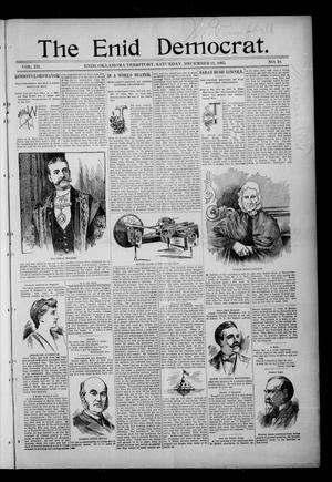 Primary view of object titled 'The Enid Democrat. (Enid, Okla. Terr.), Vol. 3, No. 19, Ed. 1 Saturday, December 21, 1895'.