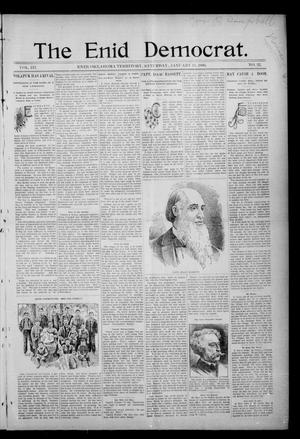 Primary view of object titled 'The Enid Democrat. (Enid, Okla. Terr.), Vol. 3, No. 22, Ed. 1 Saturday, January 11, 1896'.