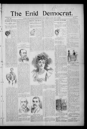 Primary view of object titled 'The Enid Democrat. (Enid, Okla. Terr.), Vol. 3, No. 23, Ed. 1 Saturday, January 18, 1896'.