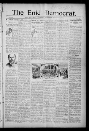 Primary view of object titled 'The Enid Democrat. (Enid, Okla. Terr.), Vol. 3, No. 25, Ed. 1 Saturday, February 1, 1896'.