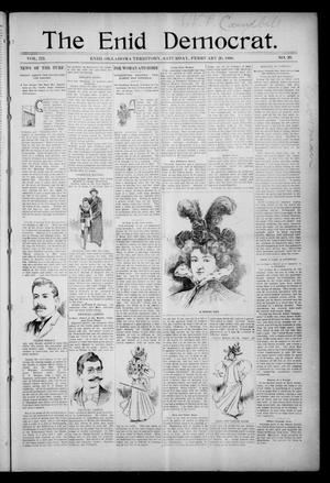 Primary view of object titled 'The Enid Democrat. (Enid, Okla. Terr.), Vol. 3, No. 29, Ed. 1 Saturday, February 29, 1896'.