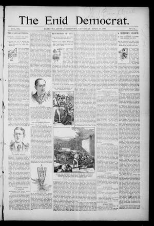 Primary view of object titled 'The Enid Democrat. (Enid, Okla. Terr.), Vol. 3, No. 36, Ed. 1 Saturday, April 18, 1896'.