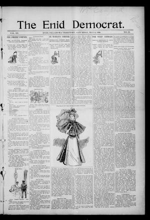 Primary view of object titled 'The Enid Democrat. (Enid, Okla. Terr.), Vol. 3, No. 39, Ed. 1 Saturday, May 9, 1896'.