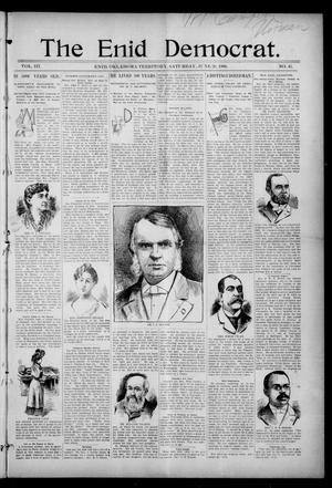 Primary view of object titled 'The Enid Democrat. (Enid, Okla. Terr.), Vol. 3, No. 45, Ed. 1 Saturday, June 20, 1896'.