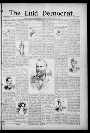 Primary view of object titled 'The Enid Democrat. (Enid, Okla. Terr.), Vol. 3, No. 46, Ed. 1 Saturday, June 27, 1896'.