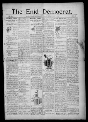Primary view of object titled 'The Enid Democrat. (Enid, Okla. Terr.), Vol. 3, No. 48, Ed. 1 Saturday, August 8, 1896'.