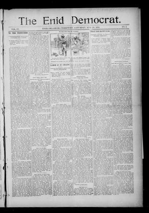 Primary view of The Enid Democrat. (Enid, Okla. Terr.), Vol. 3, No. 51, Ed. 1 Saturday, August 29, 1896