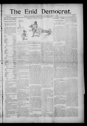Primary view of object titled 'The Enid Democrat. (Enid, Okla. Terr.), Vol. 3, No. 52, Ed. 1 Saturday, September 5, 1896'.