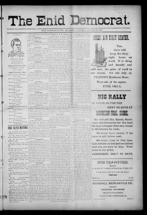 Primary view of object titled 'The Enid Democrat. (Enid, Okla. Terr.), Vol. 3, No. 59, Ed. 1 Saturday, October 31, 1896'.