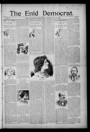 Primary view of object titled 'The Enid Democrat. (Enid, Okla. Terr.), Vol. 3, No. 62, Ed. 1 Saturday, November 21, 1896'.