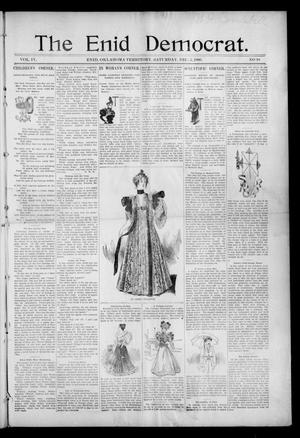 Primary view of object titled 'The Enid Democrat. (Enid, Okla. Terr.), Vol. 3, No. 64, Ed. 1 Saturday, December 5, 1896'.