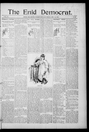 Primary view of object titled 'The Enid Democrat. (Enid, Okla. Terr.), Vol. 3, No. 66, Ed. 1 Saturday, December 19, 1896'.