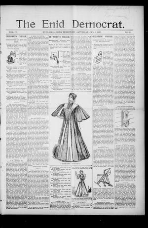 Primary view of object titled 'The Enid Democrat. (Enid, Okla. Terr.), Vol. 3, No. 69, Ed. 1 Saturday, January 9, 1897'.