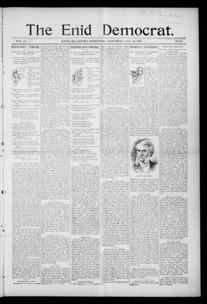Primary view of object titled 'The Enid Democrat. (Enid, Okla. Terr.), Vol. 3, No. 70, Ed. 1 Saturday, January 16, 1897'.