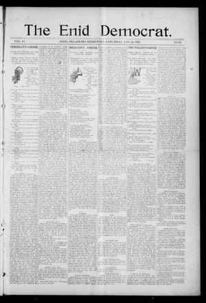 Primary view of object titled 'The Enid Democrat. (Enid, Okla. Terr.), Vol. 3, No. 71, Ed. 1 Saturday, January 23, 1897'.