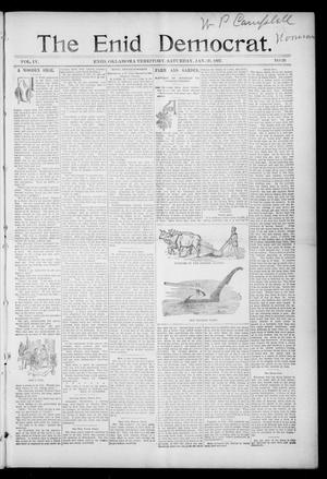 Primary view of object titled 'The Enid Democrat. (Enid, Okla. Terr.), Vol. 3, No. 72, Ed. 1 Saturday, January 30, 1897'.