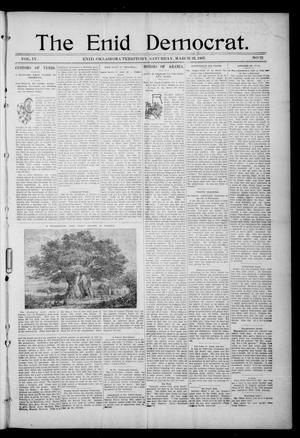 Primary view of object titled 'The Enid Democrat. (Enid, Okla. Terr.), Vol. 3, No. 78, Ed. 1 Saturday, March 13, 1897'.