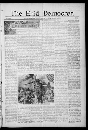 Primary view of object titled 'The Enid Democrat. (Enid, Okla. Terr.), Vol. 3, No. 79, Ed. 1 Saturday, March 20, 1897'.