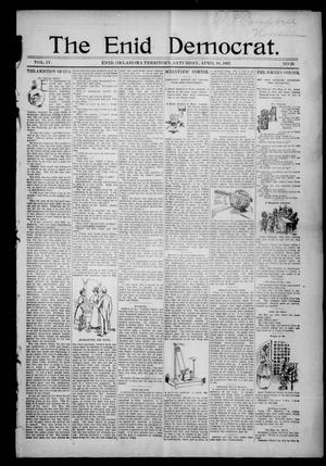 Primary view of object titled 'The Enid Democrat. (Enid, Okla. Terr.), Vol. 3, No. 81, Ed. 1 Saturday, April 10, 1897'.