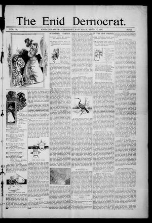 Primary view of object titled 'The Enid Democrat. (Enid, Okla. Terr.), Vol. 3, No. 82, Ed. 1 Saturday, April 17, 1897'.