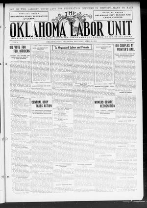 Primary view of object titled 'The Oklahoma Labor Unit (Oklahoma City, Okla.), Vol. 4, No. 46, Ed. 1 Saturday, April 20, 1912'.