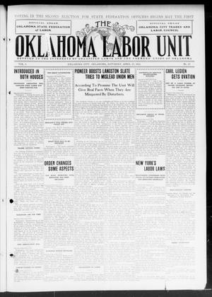 Primary view of object titled 'The Oklahoma Labor Unit (Oklahoma City, Okla.), Vol. 4, No. 47, Ed. 1 Saturday, April 27, 1912'.