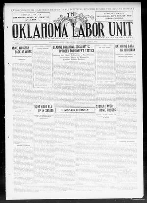 Primary view of object titled 'The Oklahoma Labor Unit (Oklahoma City, Okla.), Vol. 4, No. 52, Ed. 1 Saturday, June 1, 1912'.