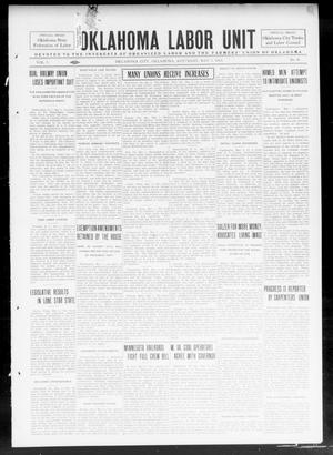 Primary view of object titled 'Oklahoma Labor Unit (Oklahoma City, Okla.), Vol. 5, No. 46, Ed. 1 Saturday, May 3, 1913'.