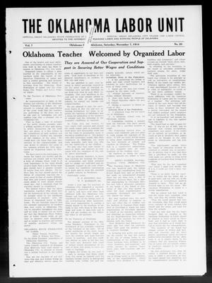 Primary view of The Oklahoma Labor Unit (Oklahoma City, Okla.), Vol. 7, No. 20, Ed. 1 Saturday, November 7, 1914