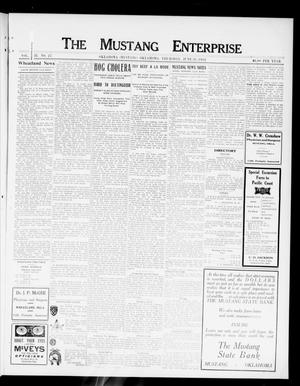 Primary view of object titled 'The Mustang Enterprise (Oklahoma [Mustang], Okla.), Vol. 8, No. 27, Ed. 1 Thursday, June 20, 1912'.