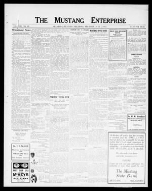 Primary view of object titled 'The Mustang Enterprise (Oklahoma [Mustang], Okla.), Vol. 8, No. 29, Ed. 1 Thursday, July 4, 1912'.