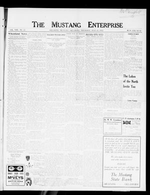 Primary view of object titled 'The Mustang Enterprise (Oklahoma [Mustang], Okla.), Vol. 8, No. 31, Ed. 1 Thursday, July 18, 1912'.