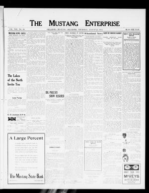 Primary view of object titled 'The Mustang Enterprise (Oklahoma [Mustang], Okla.), Vol. 8, No. 36, Ed. 1 Thursday, August 22, 1912'.