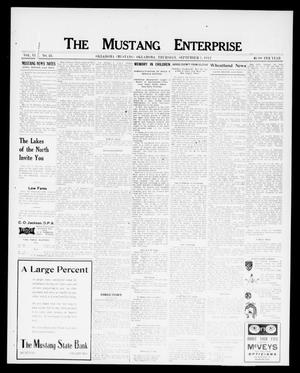 Primary view of object titled 'The Mustang Enterprise (Oklahoma [Mustang], Okla.), Vol. 8, No. 38, Ed. 1 Thursday, September 5, 1912'.