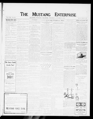 Primary view of object titled 'The Mustang Enterprise (Oklahoma [Mustang], Okla.), Vol. 8, No. 43, Ed. 1 Thursday, October 17, 1912'.