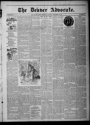 Primary view of object titled 'The Beaver Advocate. (Beaver, Okla. Terr.), Vol. 8, No. 20, Ed. 1 Thursday, December 20, 1894'.
