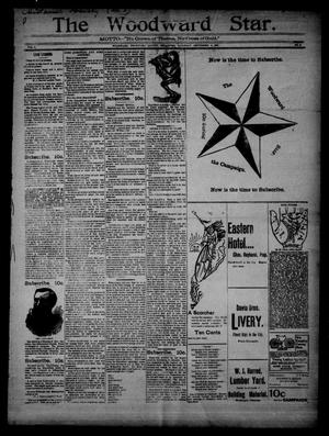 Primary view of object titled 'The Woodward Star. (Woodward, Okla.), Vol. 1, No. 2, Ed. 1 Saturday, September 5, 1896'.