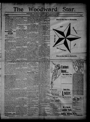 Primary view of object titled 'The Woodward Star. (Woodward, Okla.), Vol. 1, No. 6, Ed. 1 Saturday, October 3, 1896'.